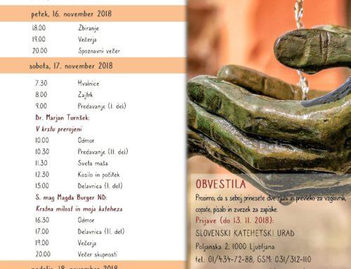 41. študijsko posvetovanje Skupnosti slovenskih katehistinj in katehistov