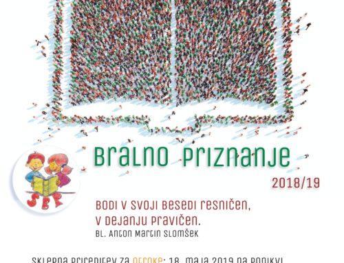 Sklepna prireditev Slomškovega bralnega priznanja 2019