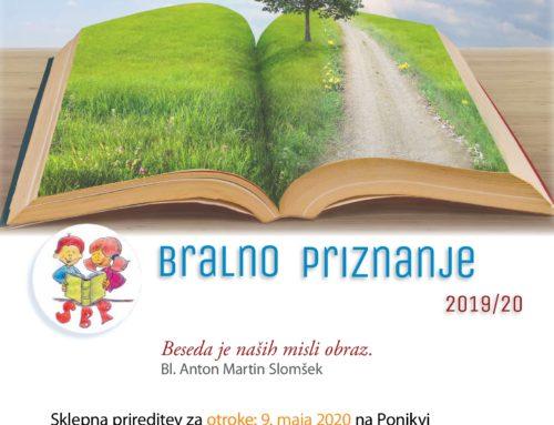 Slomškovo bralno priznanje 2019/20